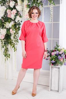 Платье со складками по горловине Angela Ricci со скидкой