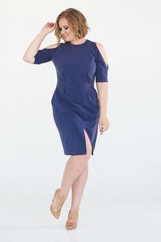 Платье с вырезами на плечах Angela Ricci