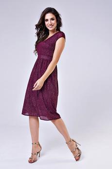 Платье цвета марсала Angela Ricci
