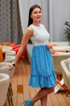 Платье с голубой юбкой Look Russian